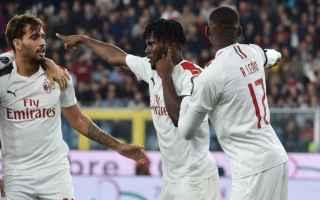 Serie A: cagliari  milan  formazioni ufficiali