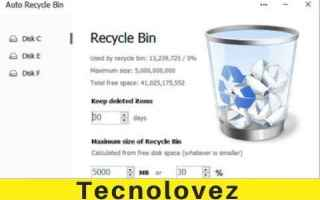 Computer: auto recycle bin windows