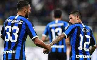 Serie A: inter  atalanta  formazioni ufficiali