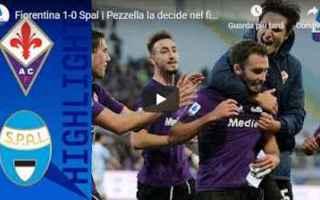 fiorentina spal video gol calcio