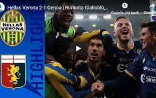 verona genoa video gol calcio