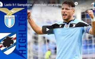 Serie A: lazio sampdoria video gol calcio