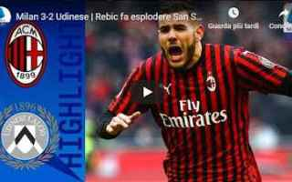 milan udinese video gol calcio