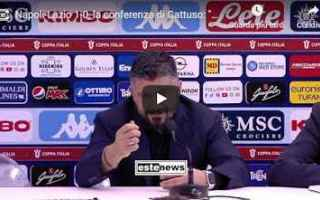Coppa Italia: napoli lazio conferenza gattuso video