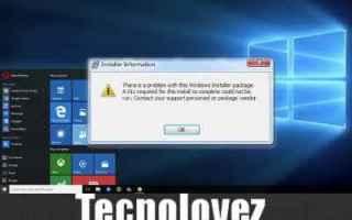 problema dll mancante  windows installer