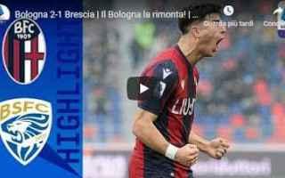 Serie A: bologna brescia video gol calcio