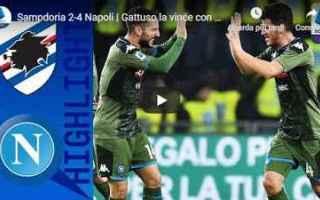 Serie A: sampdoria napoli video gol calcio