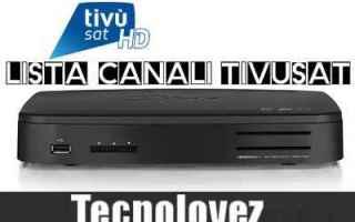 Televisione: elenco canali tivùsat  numerazione