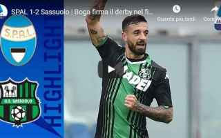 Serie A: spal sassuolo video calcio gol