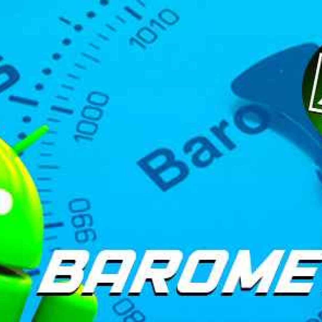 barometro sensore android apps meteo app