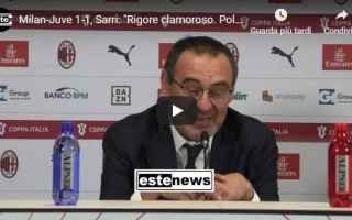 Coppa Italia: milan juventus sarri calcio video