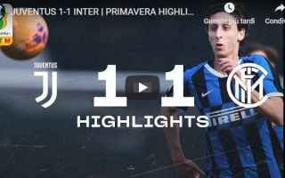 Serie minori: juventus inter video calcio gol