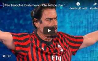 teocoli ibrahimovic video calcio rai