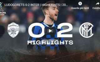 Europa League: inter uefa video gol calcio