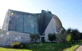 Architettura: chiesa  giovanni michelucci  chiesa autostrada