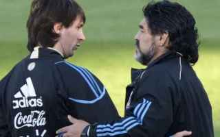 Champions League: napoli  messi  maradona