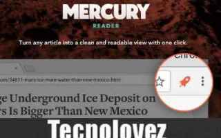 mercury reader estensione rimuove annunc