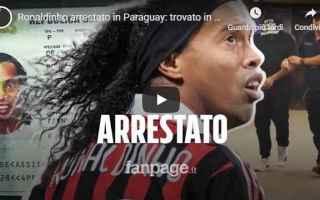 Calcio: ronaldinho calcio brasile video paraguay