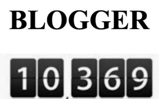 inserire  cointatore visite  blogger