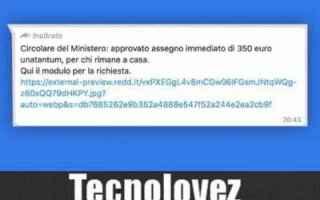 WhatsApp: bufala whatsapp 350 euro coronavirus