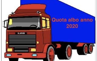 Lavoro: pagare  quota  albo  2020 autotrasporto