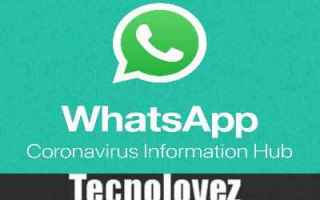 whatsapp coronavirus information hub