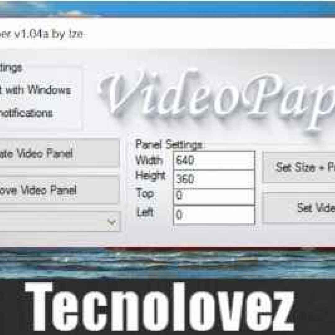 videopaper impostare video sfondo pc