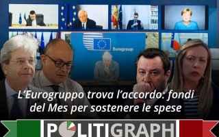 Politica: europa  mes  eurobond  eurogruppo  covid
