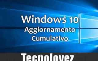 Computer: windows 10 aggiornamento  windows