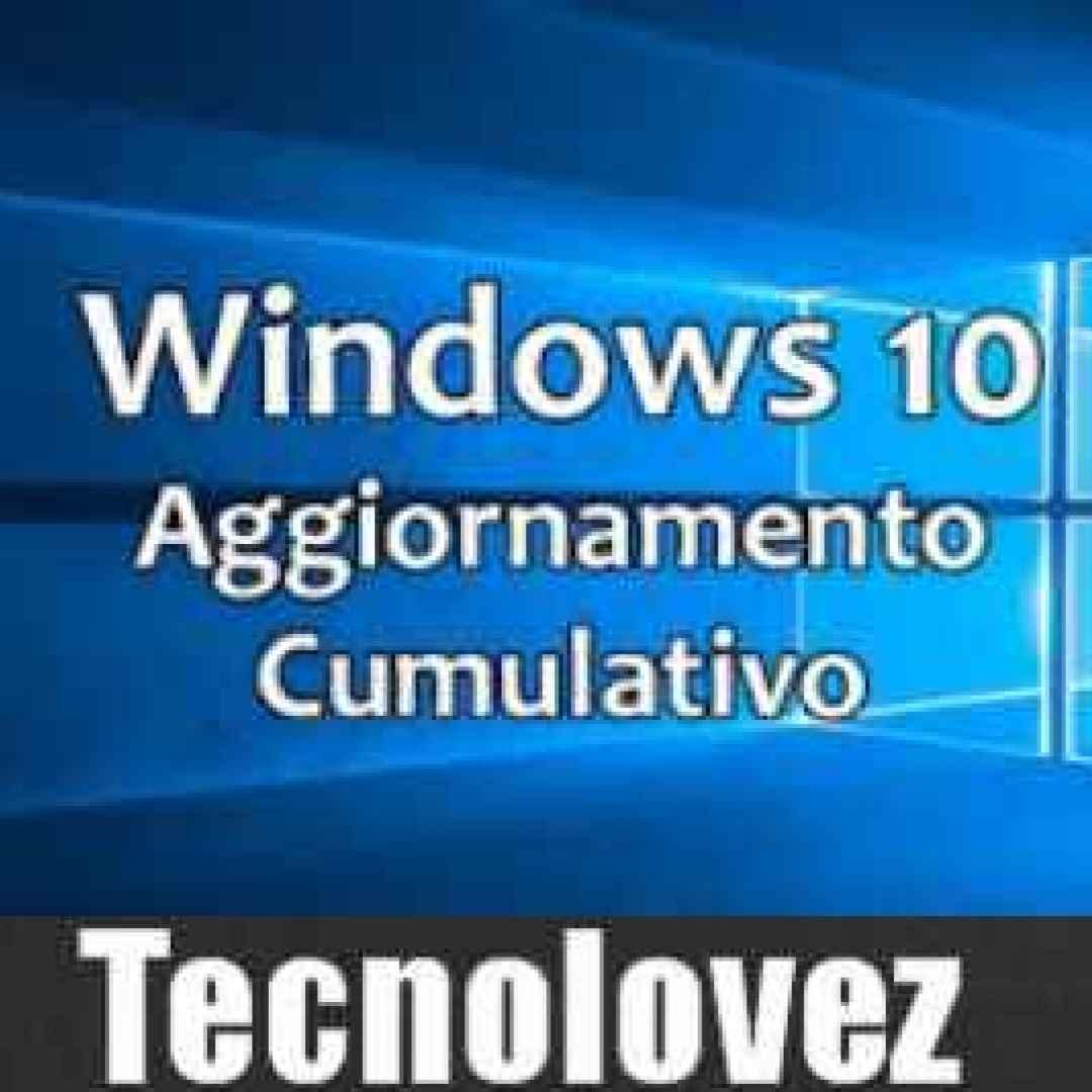 windows 10 aggiornamento  windows