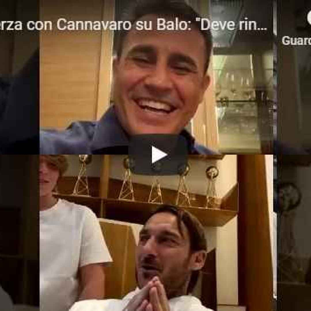 cannavaro totti instagram italia video