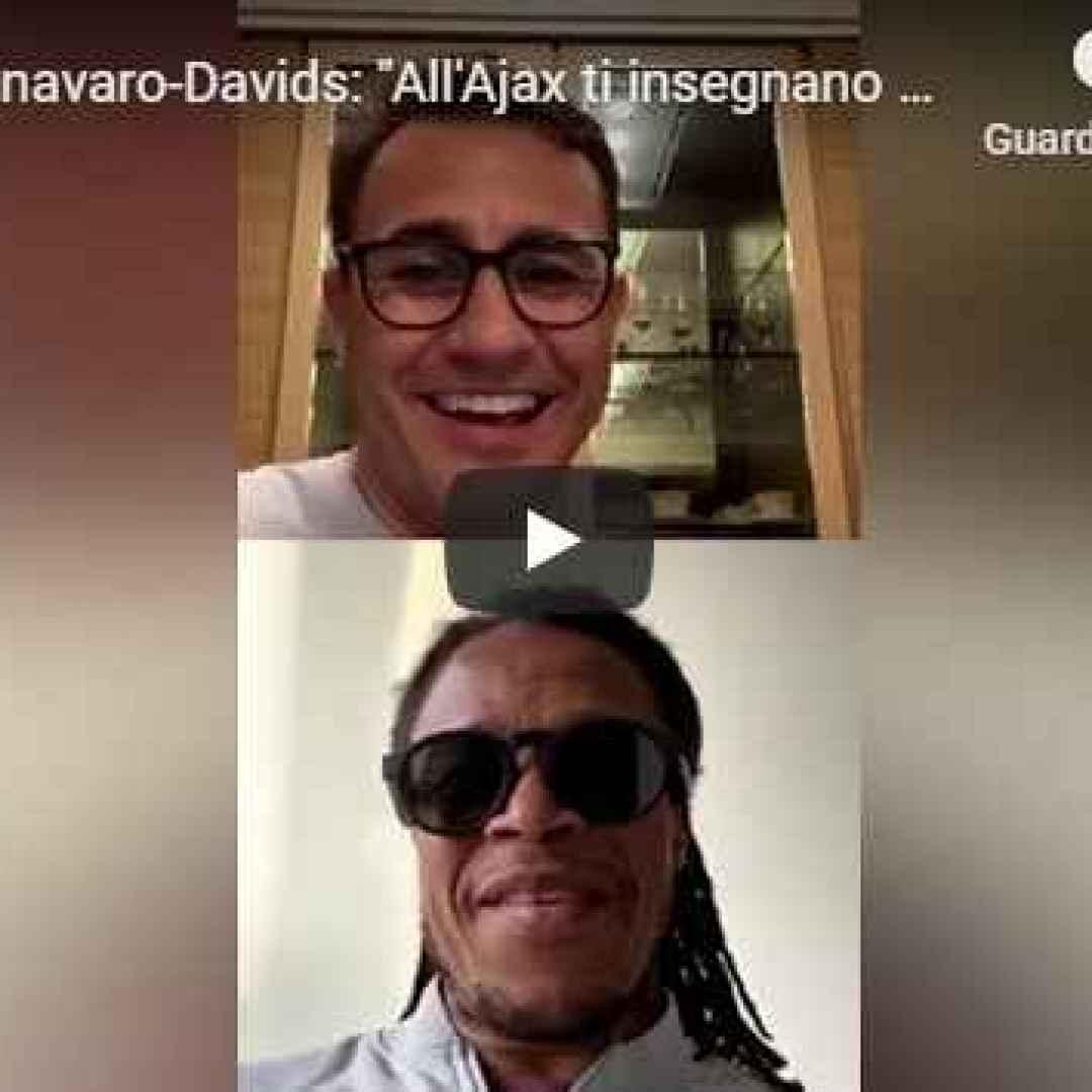 cannavaro davids instagram italia video