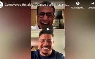 Calcio: cannavaro ronaldo instagram italia video