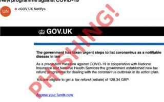 Sicurezza: pandemia coronavirus phishing sms