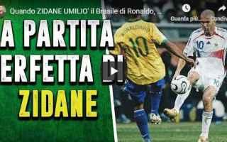 zidane francia brasile calcio video