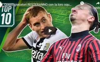 Serie A: calcio giocatori contratti video serie a