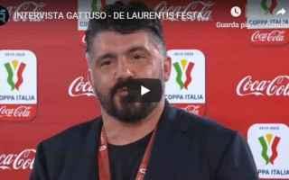 Coppa Italia: gattuso napoli juventus calcio video