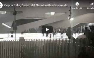 Coppa Italia: napoli tifosi coppa video calcio
