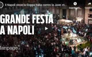Napoli: napoli tifosi festa video calcio