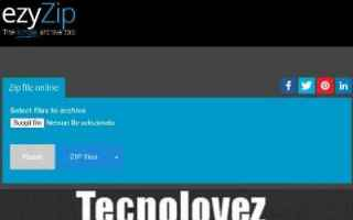 comprimere e decomprimere file online gratis con ezyZip <br />Ritorniamo a parlare di tool online ,