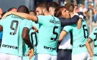 Serie A: inter-sassuolo  formazioni ufficiali