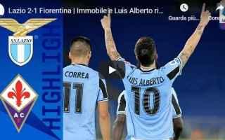 Serie A: lazio fiorentina video gol calcio
