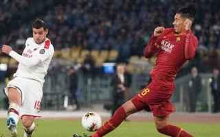 Serie A: milan-roma  formazioni ufficiali