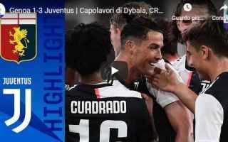 Serie A: genoa juventus video gol calcio