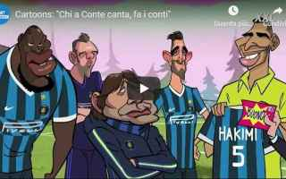 Calcio: conte inter video mediaset parodia