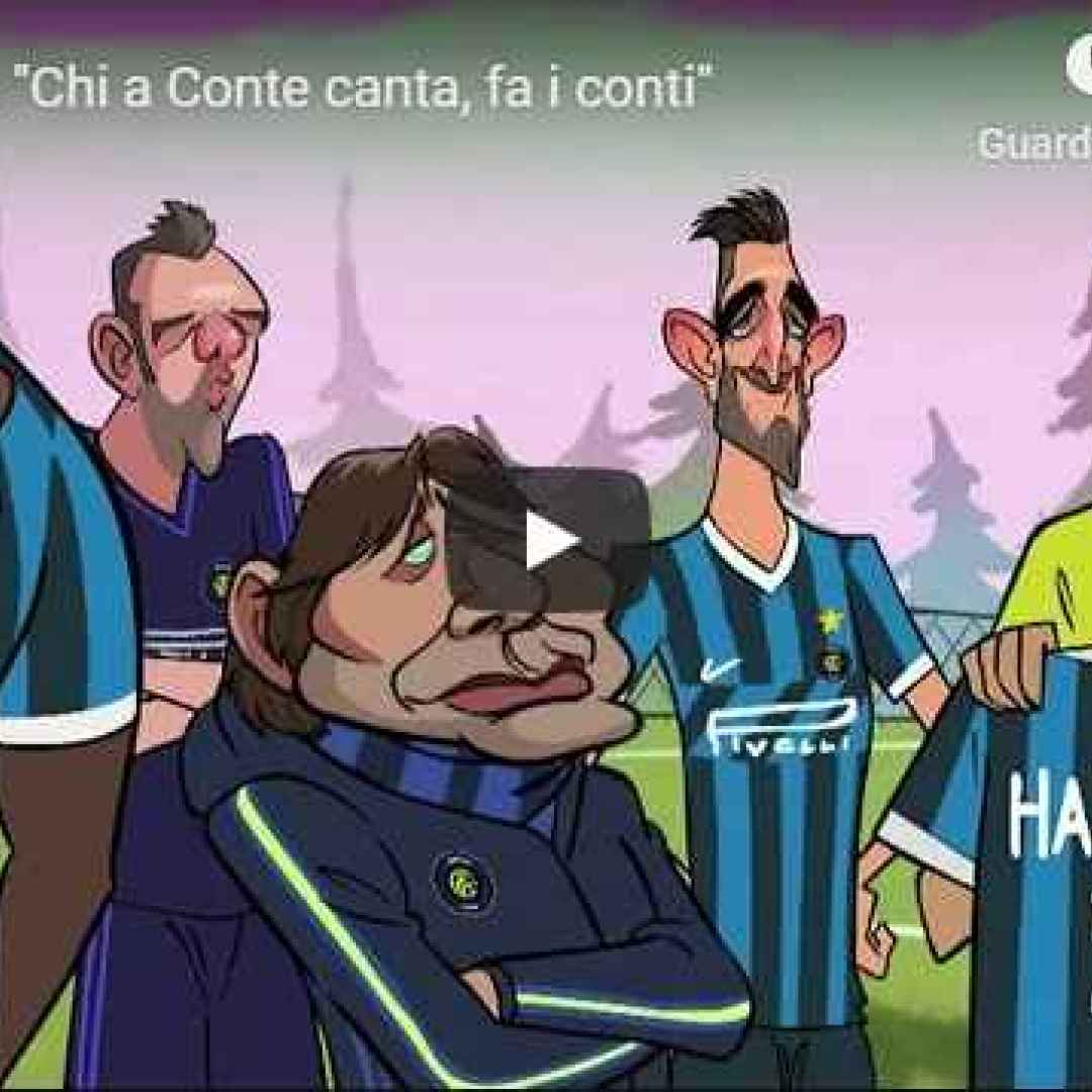 conte inter video mediaset parodia