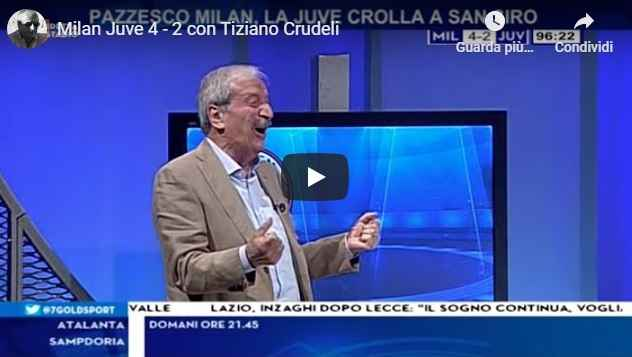 Milan - Juve 4-2 con Tiziano Crudeli - VIDEO (Milan)