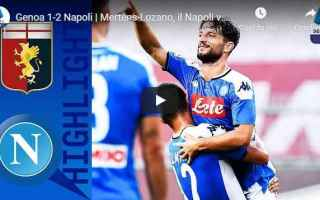 genoa napoli video gol calcio