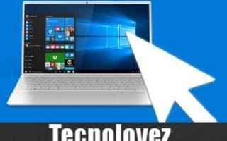 windows 10  disabilitare mouse