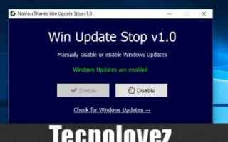 Computer: windows 10  win update stop 1.4